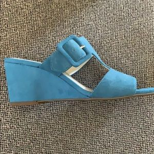 Anne Klein Shoes - Blue Anne Klein wedge shoes